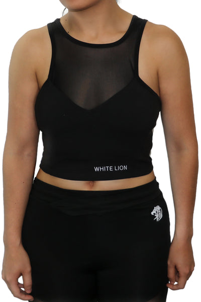 Amet Black Sports Bra - White Lion Apparel