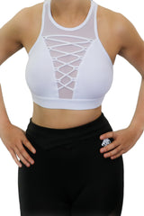 KALON WHITE SPORTS BRA - White Lion Apparel