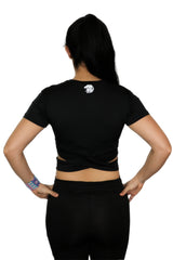 Kairos Black Crop Top - White Lion Apparel