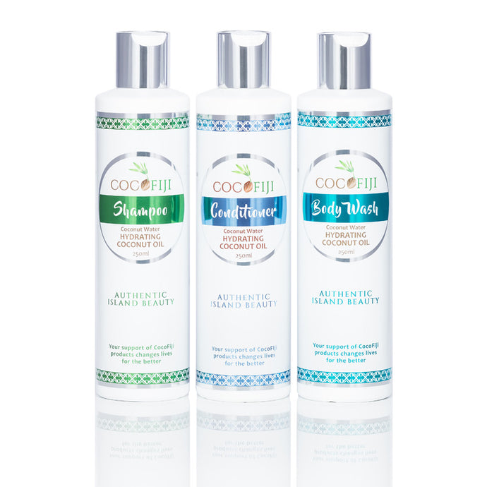 COCOFIJI - Shower Pack - Shampoo, Conditioner & Body Wash