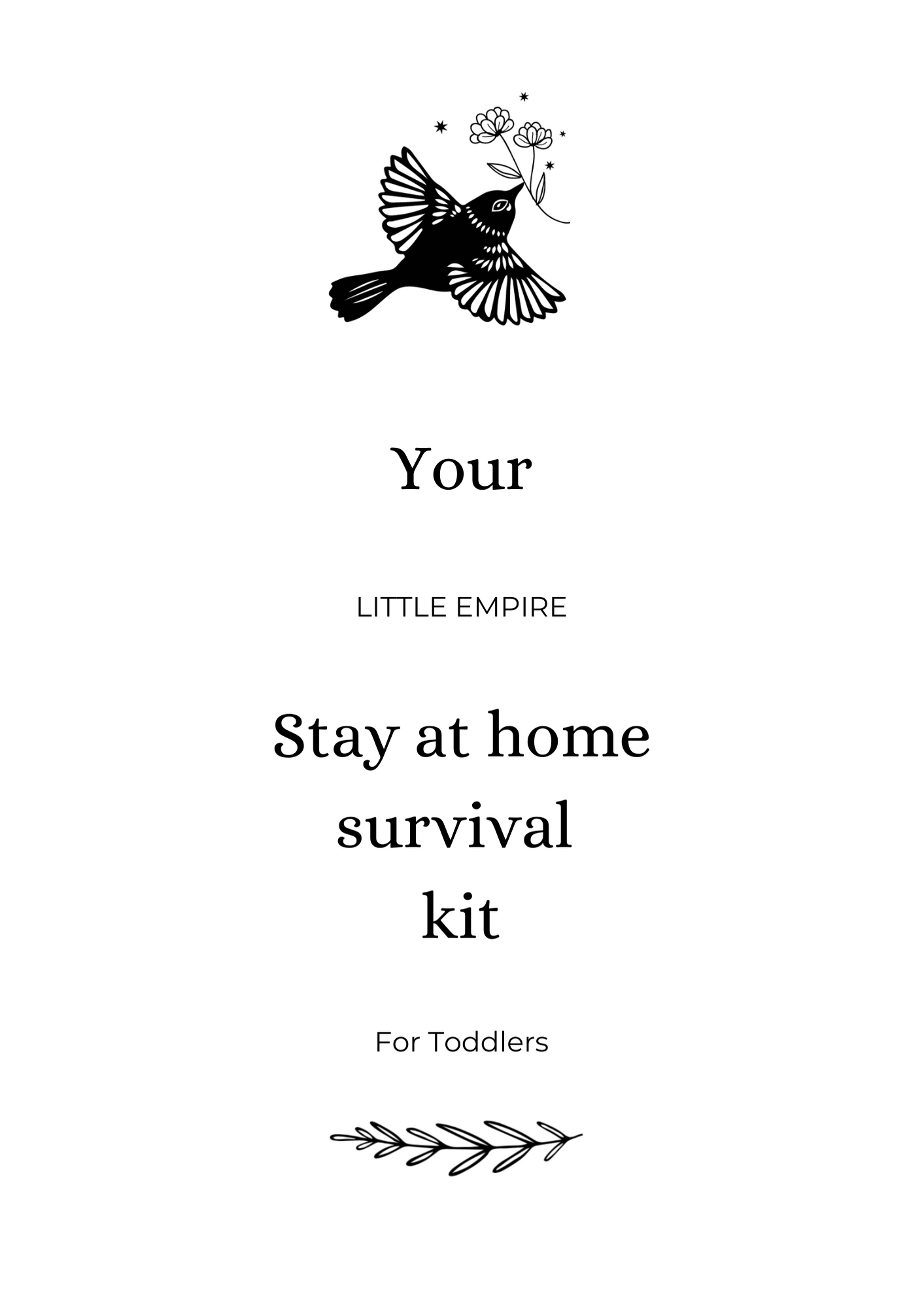 Stay At Home Survival Kit for Toddlers