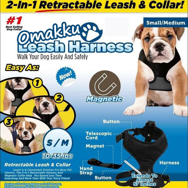 2 in 1 Magnetic and Retractable Leash