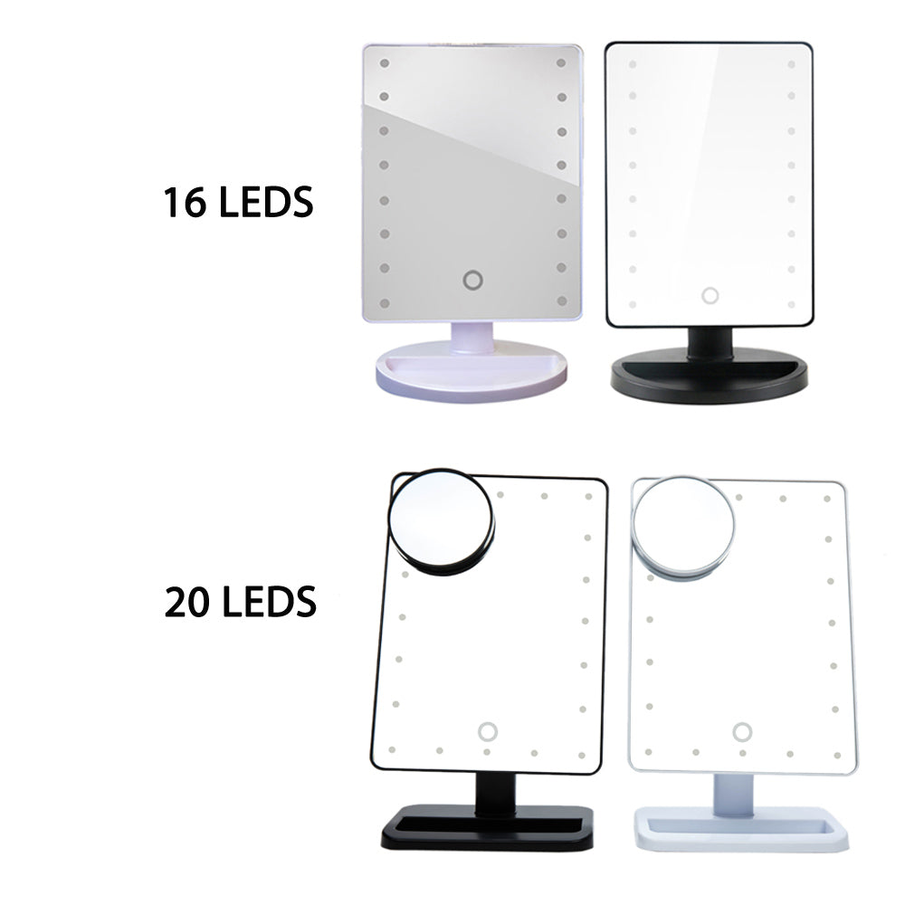 LED Makeup Mirror - 16 & 20 leds