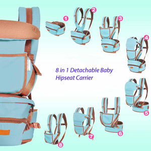 image of baby hipseat carrier - cyan