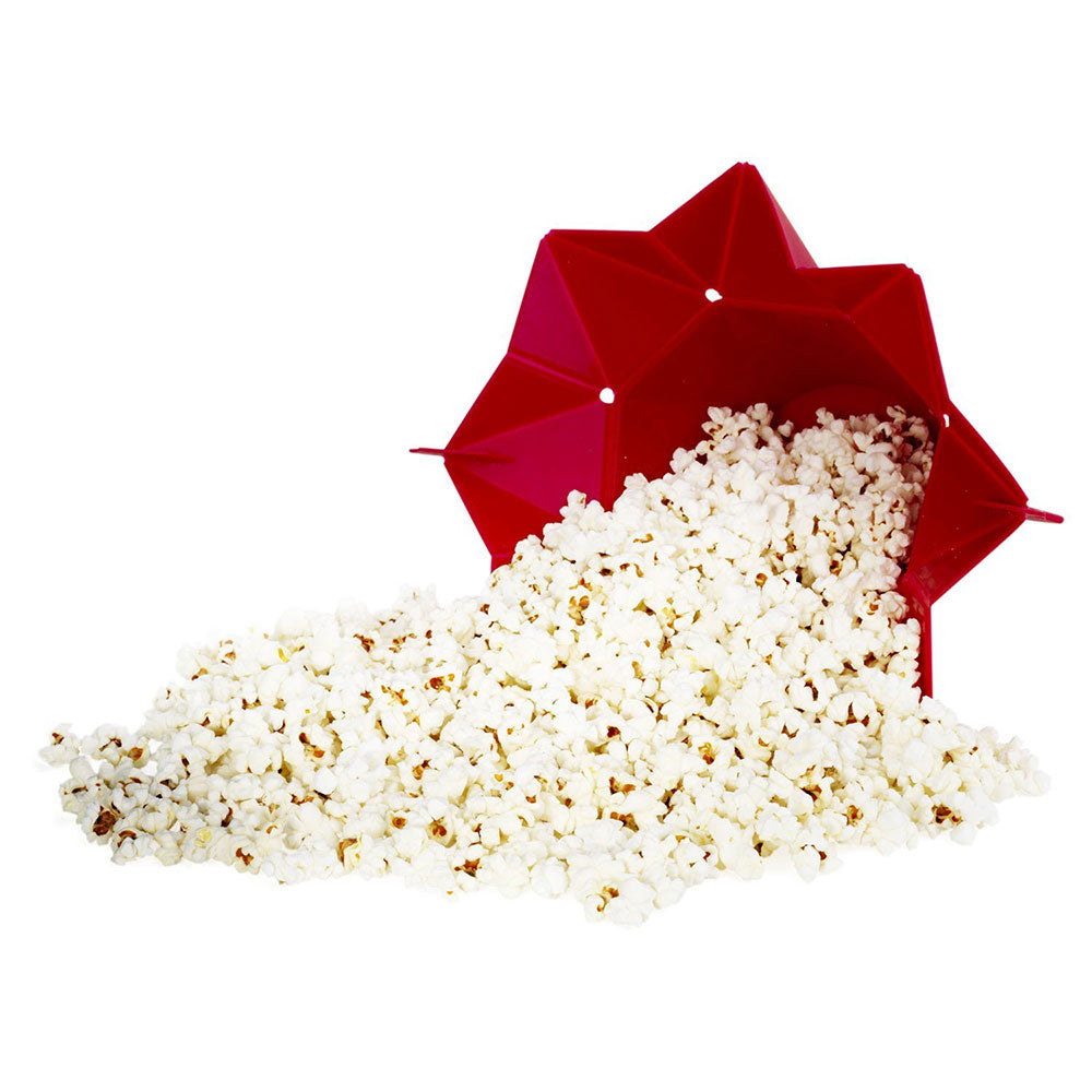 Microwave Popcorn Popper - red