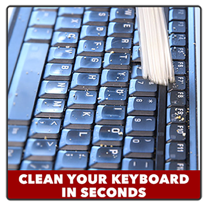 image of portable dust vacuum cleaner - clean keyboard