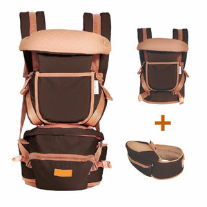 image of baby hipseat carrier - dark brown
