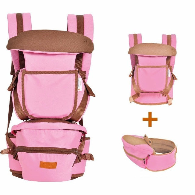 image of baby hipseat carrier - pink