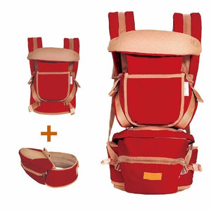 image of baby hipseat carrier - red