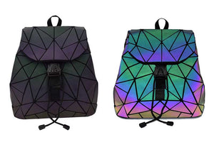 image of glowing geometric luminous backpack
