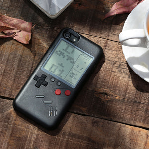retro nitendo iphone case - black