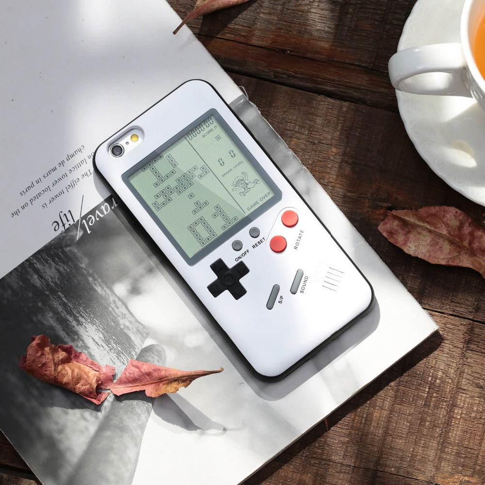 retro nitendo iphone case - white