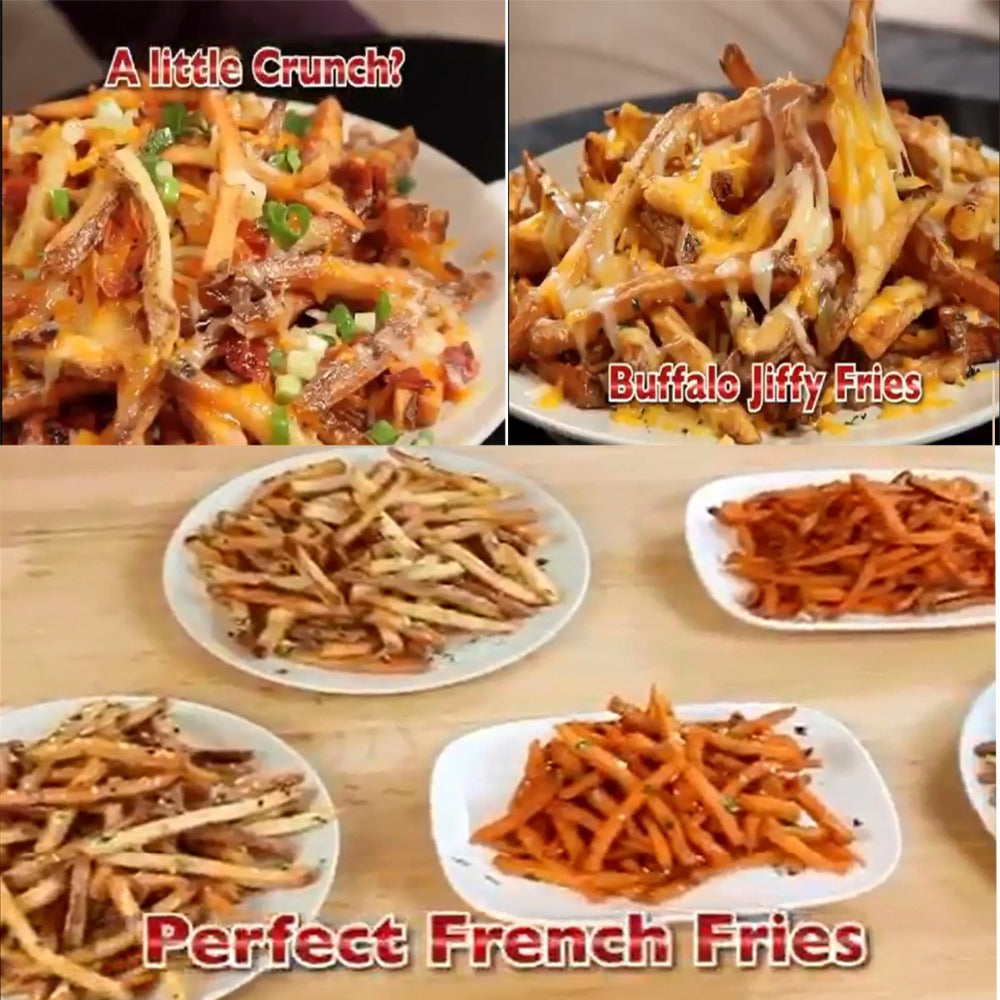variety of fries dishes image