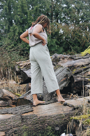 The Wanderer Wide Leg Slacks - Hemp Organic Cotton