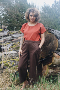 The Wanderer Wide Leg Slacks - Raw Silk