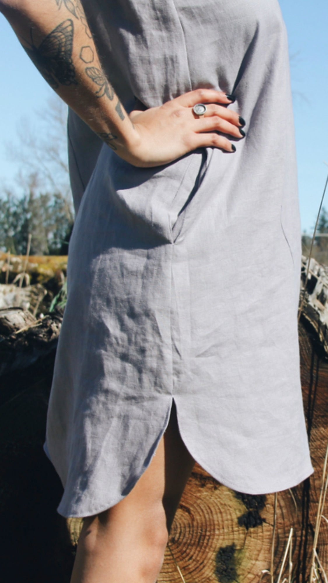 The Winona Sheath Dress - Heavy Linen