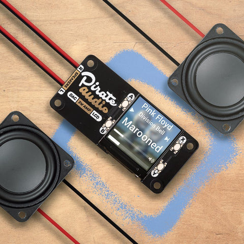 Pirate Audio: 3W Stereo Amp für Raspberry Pi
