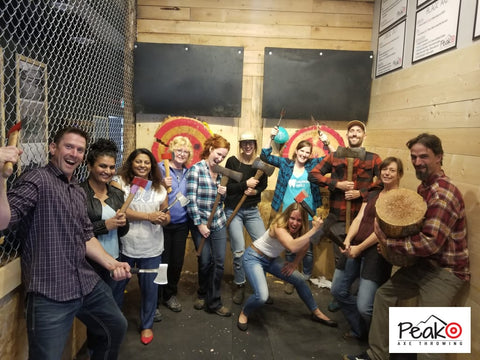 Birthday Party - Peak Axe Throwing - Revelstoke B.C