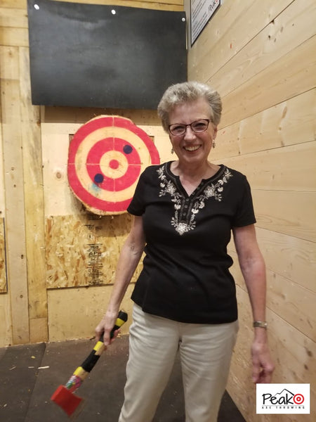 Never grow up - Peak Axe Throwing - Revelstoke B.C