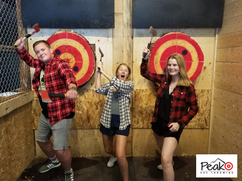 Family Fun - Peak Axe Throwing - Revelstoke B.C
