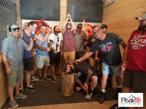 Bachelor Party - Peak Axe Throwing - Revelstoke B.C