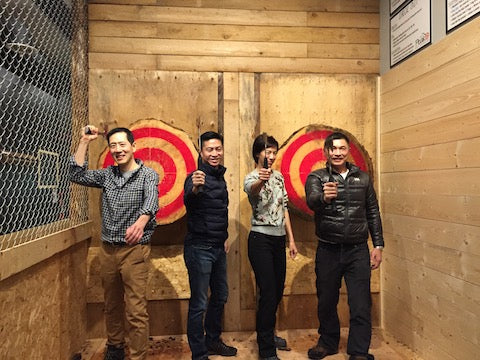Peak Axe Throwing Group Photos