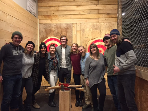 Peak Axe Throwing Birthday Party - Revelstoke B.C