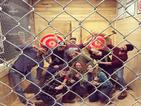 Peak Axe Throwing Birthday Party