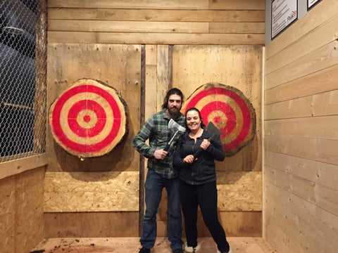 Peak Axe Throwing February 11th Group Picture