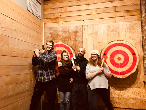 Peak Axe Throwing - Group Photos - Revelstoke B.C