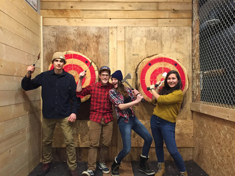 Peak Axe Throwing Group Photo