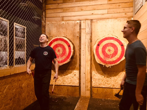 Peak Axe Throwing - Group Photo - Revelstoke B.C