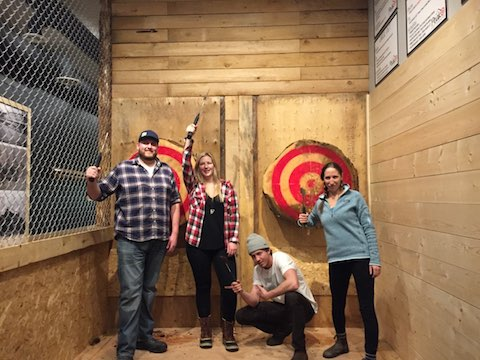 Peak Axe Throwing Group February 11