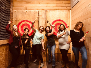 Peak Axe Throwing - Revelstoke Ladies Kicking Axe - B.C