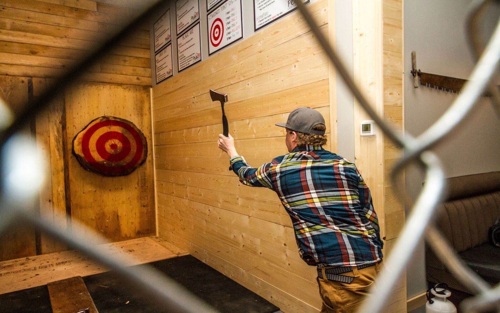 Target Practice at Peak Axe Throwing - Revelstoke B.C