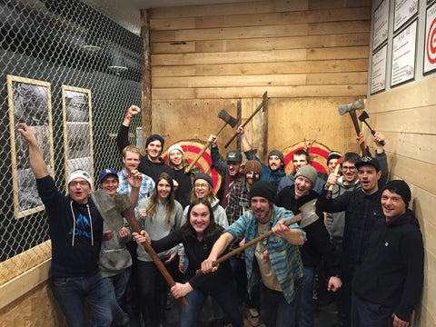 RMR Staff Party at Peak Axe Throwing