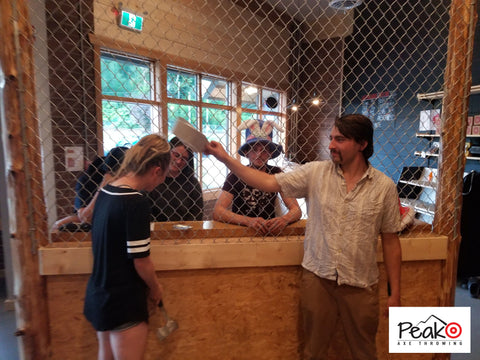 Staff Party - Peak Axe Throwing - Revelstoke B.C