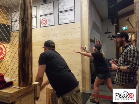 Wedding Party - Peak Axe Throwing - Revelstoke B.C