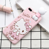 [LIMITED EDITION] Love Hello Kitty Heart Bow Pink Soft TPU Back Cover Case for iPhone 6-7