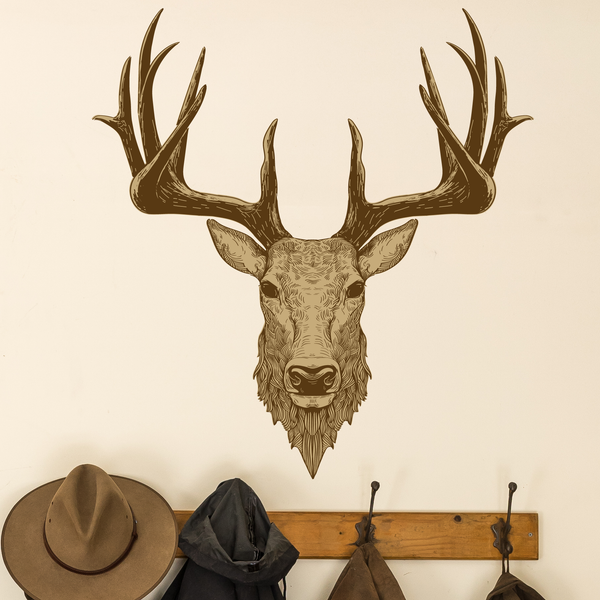 Country Range Stag Head Wall Decal Sticker Porch Hallway