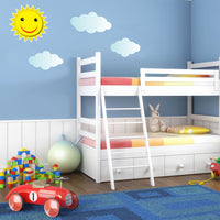 Childrens Sun and Clouds Wall Stickers (Kids Bedroom Boys Decal Baby Art )