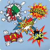 Retro Comic Vinyl Wall Stickers - Super Hero Superman Pop Art Decal Mural