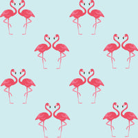 Flamingo Bird Printed Pink Wall Sticker Decal - Great Wallpaper Alternative