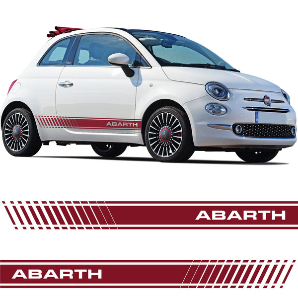 Fiat 500 Abarth Car Side Stripes Stickers Italian Flag Decal Graphic Stripe Grande