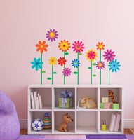 Girls Bedroom Flower Wall Stickers Decals Graphics