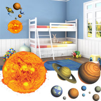 Solar System Wall Stickers - Full Colour Stars Sun and Planets Graphics Decals