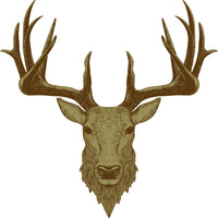 Country Range Stag Head Wall Decal Sticker Porch Hallway Entrance Deer