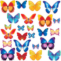 Girls Pretty Butterfly Bedroom Wall Stickers