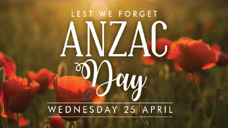 The Que Club will be closed for Anzac Day this Wednesday the 25th