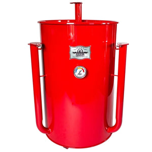 Gateway Drum Smoker 55 Gallon Red with Logo Plate